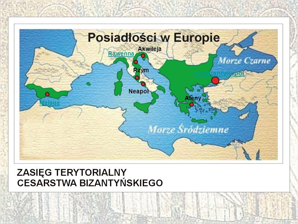 Malaga Akwileja Rawenna Rzym Neapol Ateny Konstantynopol