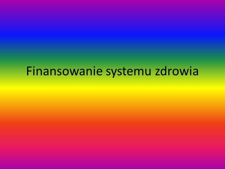 Finansowanie systemu zdrowia
