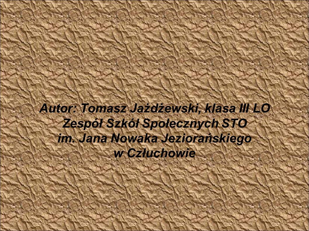 Autor: Tomasz Jażdżewski, klasa III LO Zespół Szkół Społecznych STO im. Jana Nowaka Jeziorańskiego w Człuchowie