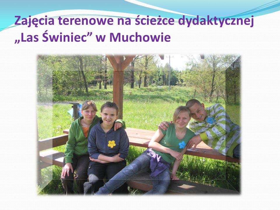 Zajęcia terenowe na ścieżce dydaktycznej Las Świniec w Muchowie