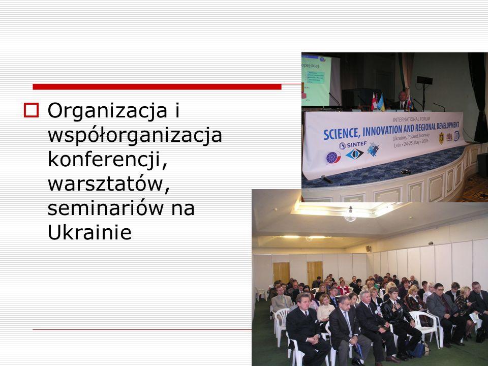 Organizacja i współorganizacja konferencji, warsztatów, seminariów na Ukrainie