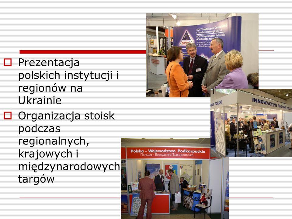 Prezentacja polskich instytucji i regionów na Ukrainie Organizacja stoisk podczas regionalnych, krajowych i międzynarodowych targów