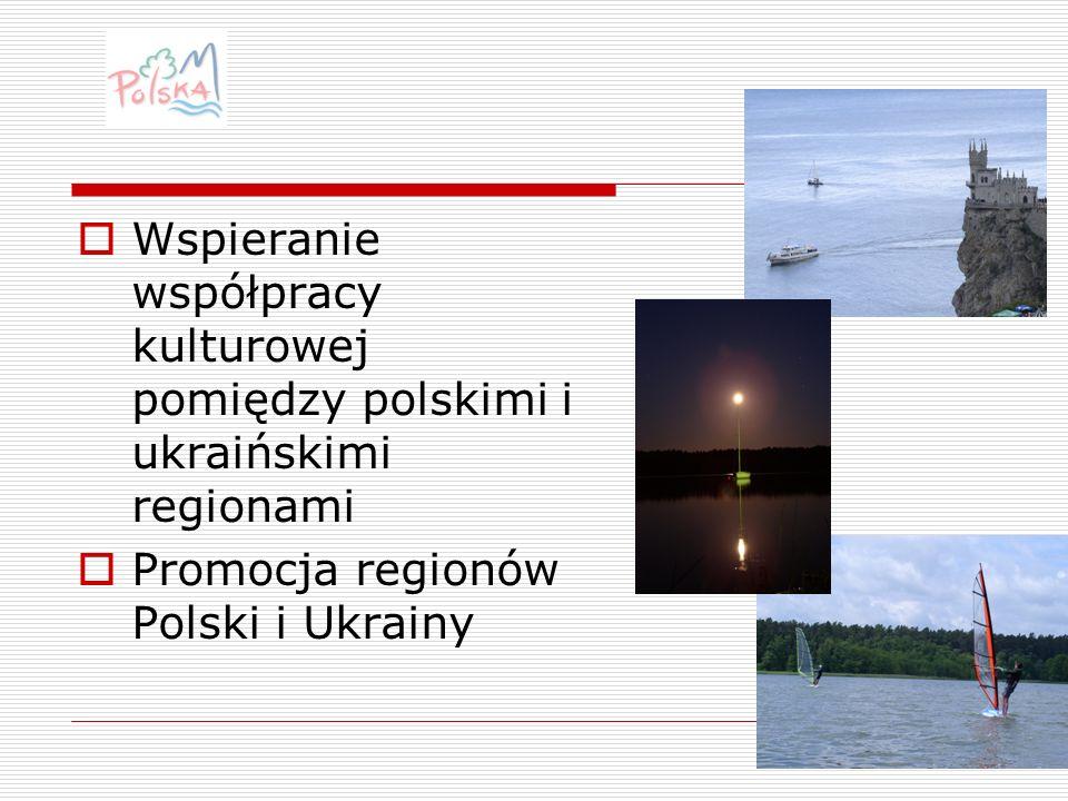 Wspieranie współpracy kulturowej pomiędzy polskimi i ukraińskimi regionami Promocja regionów Polski i Ukrainy