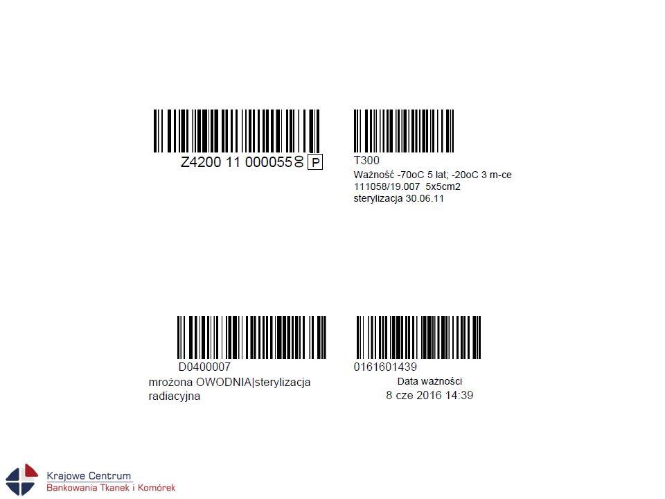 Wymogi dotyczące prowadzenia dokumentacji pacjenta -Dokumentacja powinna zawierać opis zabiegu z zamieszczeniem informacji o rodzaju zastosowanego przeszczepu z jego numerem zawartym na etykiecie.