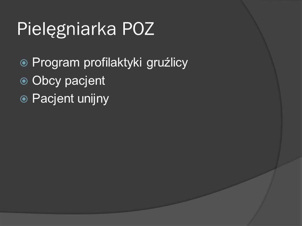 Pielęgniarka POZ Program profilaktyki gruźlicy Obcy pacjent Pacjent unijny