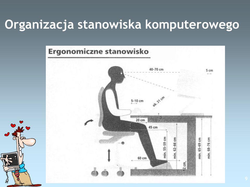 Free Template from www.brainybetty.com 9 Organizacja stanowiska komputerowego