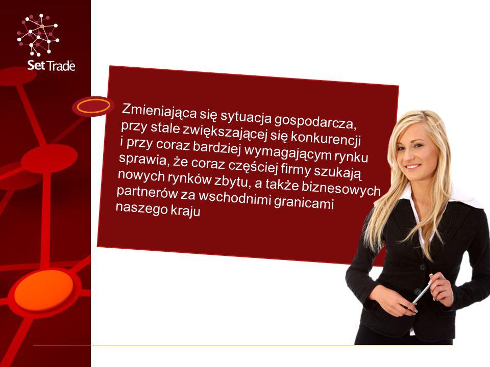 Tak to się zaczęło Eksportowe doświadczenie oraz wypracowane relacje partnerskie z wieloma kontrahentami z takich krajów jak: Rosja, Ukraina, Białoruś, Kazachstan, Mołdawia, Gruzja, Litwa, Łotwa i Estonia to konsekwencja powołania do życia Platformy Set Trade, której celem jest pomoc w promowaniu i wspieraniu producentów oraz eksporterów na rynkach Europy Wschodniej