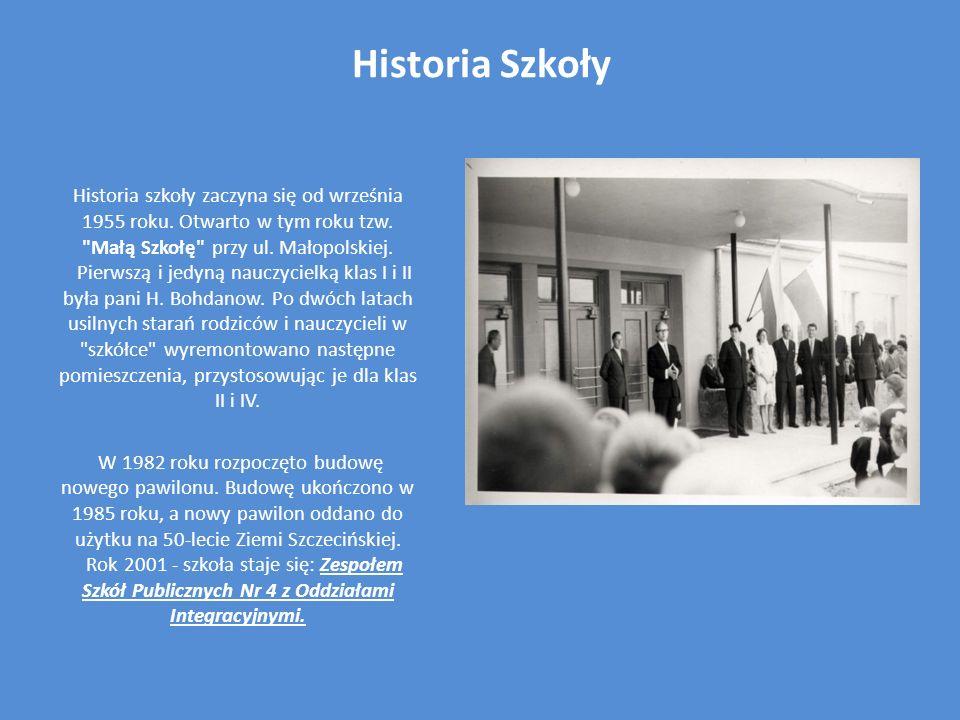 Historia Szkoły Historia szkoły zaczyna się od września 1955 roku. Otwarto w tym roku tzw.