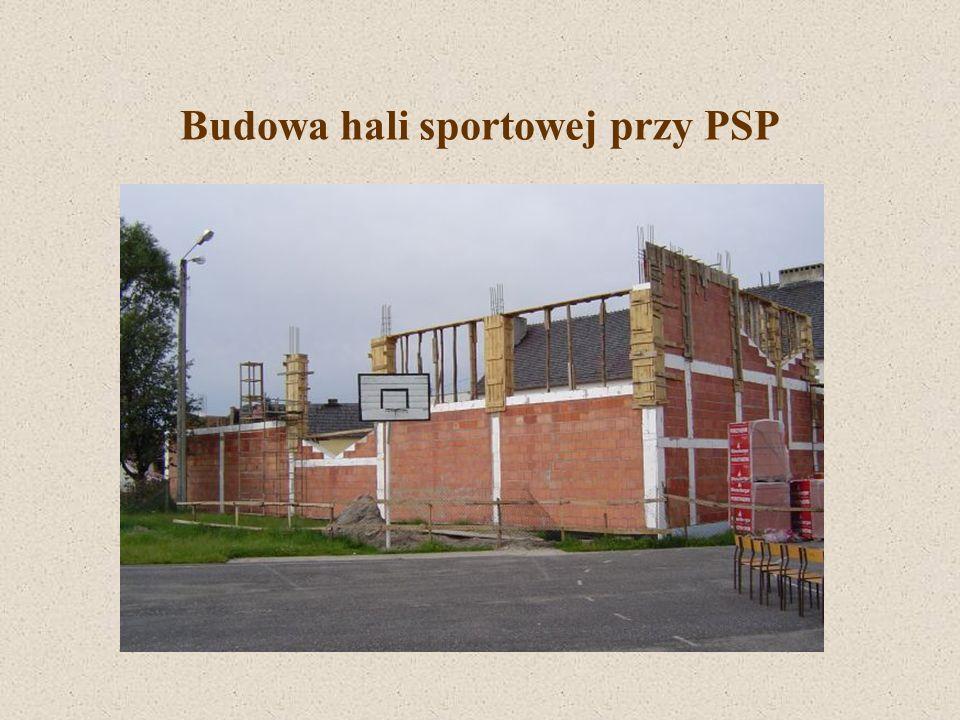 Budowa hali sportowej przy PSP