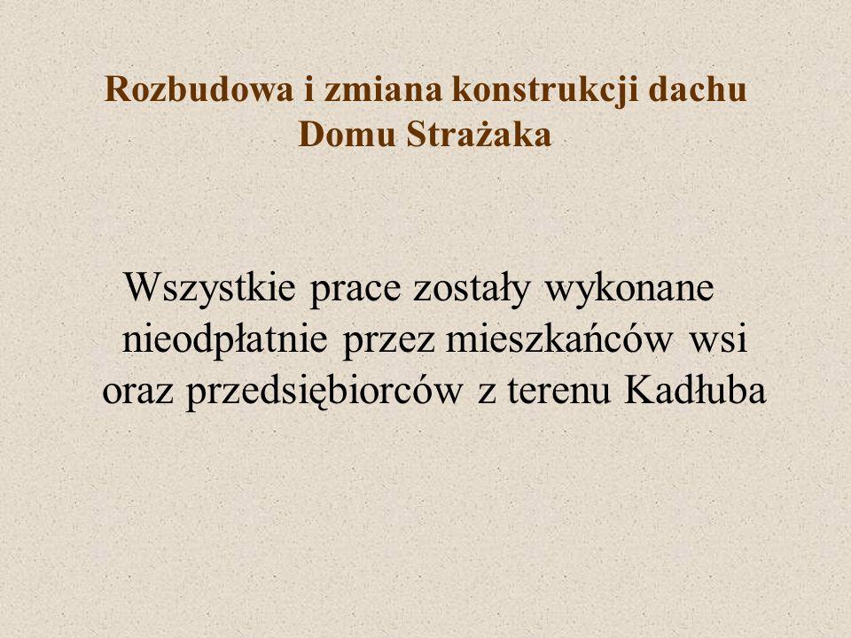Rozbudowa i zmiana konstrukcji dachu Domu Strażaka Finansowanie projektu Gmina Strzelce Op.