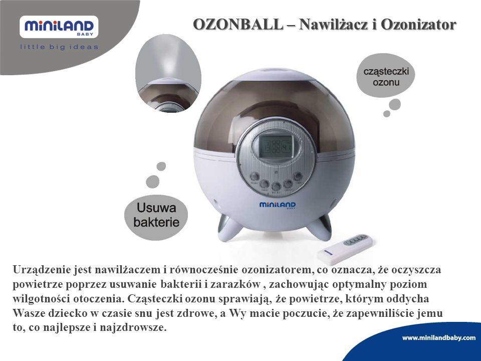 OZONBALL – Nawilżacz i Ozonizator Urządzenie jest nawilżaczem i równocześnie ozonizatorem, co oznacza, że oczyszcza powietrze poprzez usuwanie bakteri