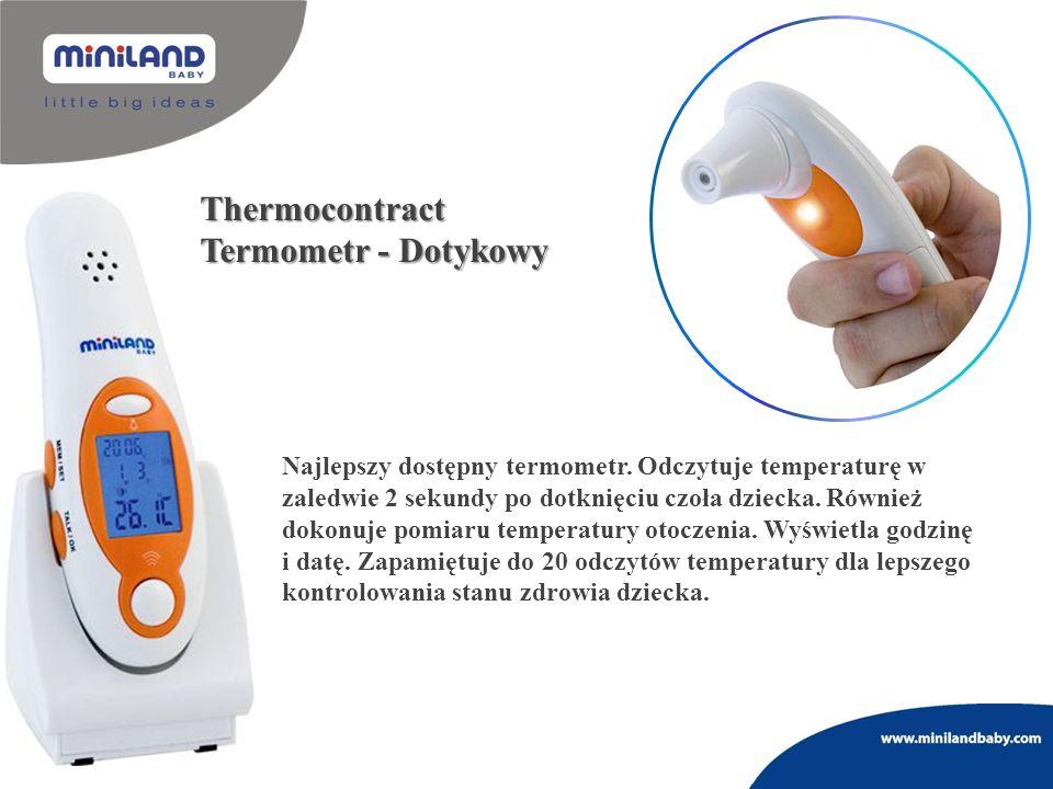 Thermocontract Termometr - Dotykowy Najlepszy dostępny termometr. Odczytuje temperaturę w zaledwie 2 sekundy po dotknięciu czoła dziecka. Również doko