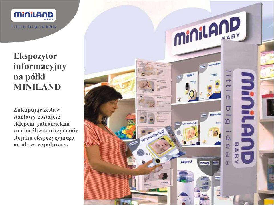 Ekspozytor informacyjny na półki MINILAND Zakupując zestaw startowy zostajesz sklepem patronackim co umożliwia otrzymanie stojaka ekspozycyjnego na ok