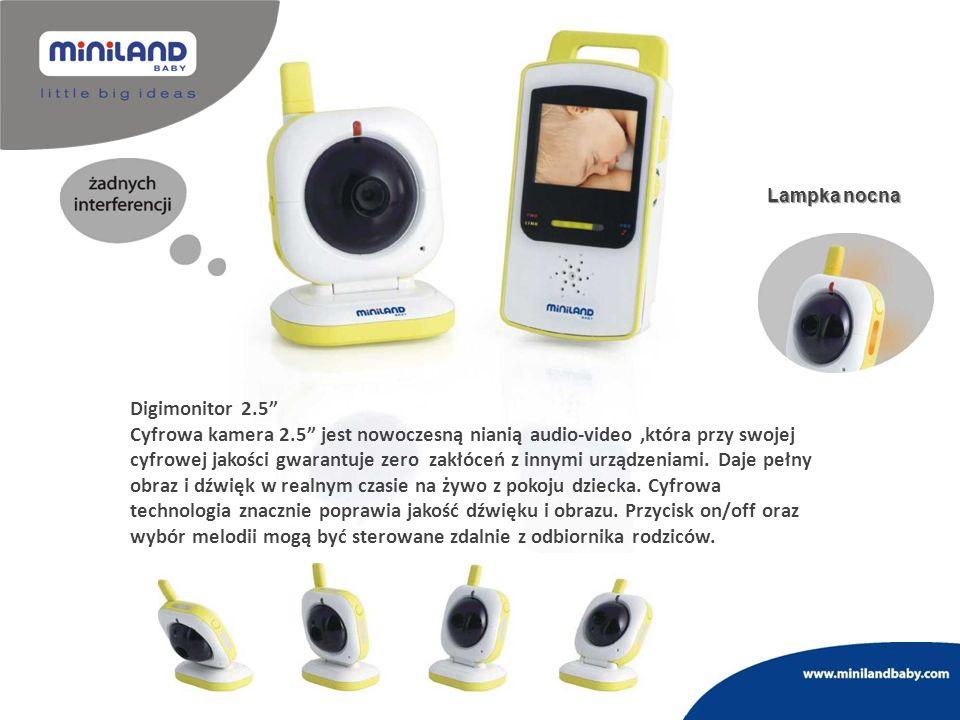 Lampka nocna Digimonitor 2.5 Cyfrowa kamera 2.5 jest nowoczesną nianią audio-video,która przy swojej cyfrowej jakości gwarantuje zero zakłóceń z innym