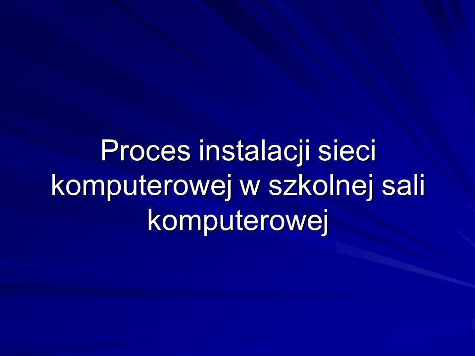 Proces instalacji sieci komputerowej w szkolnej sali komputerowej