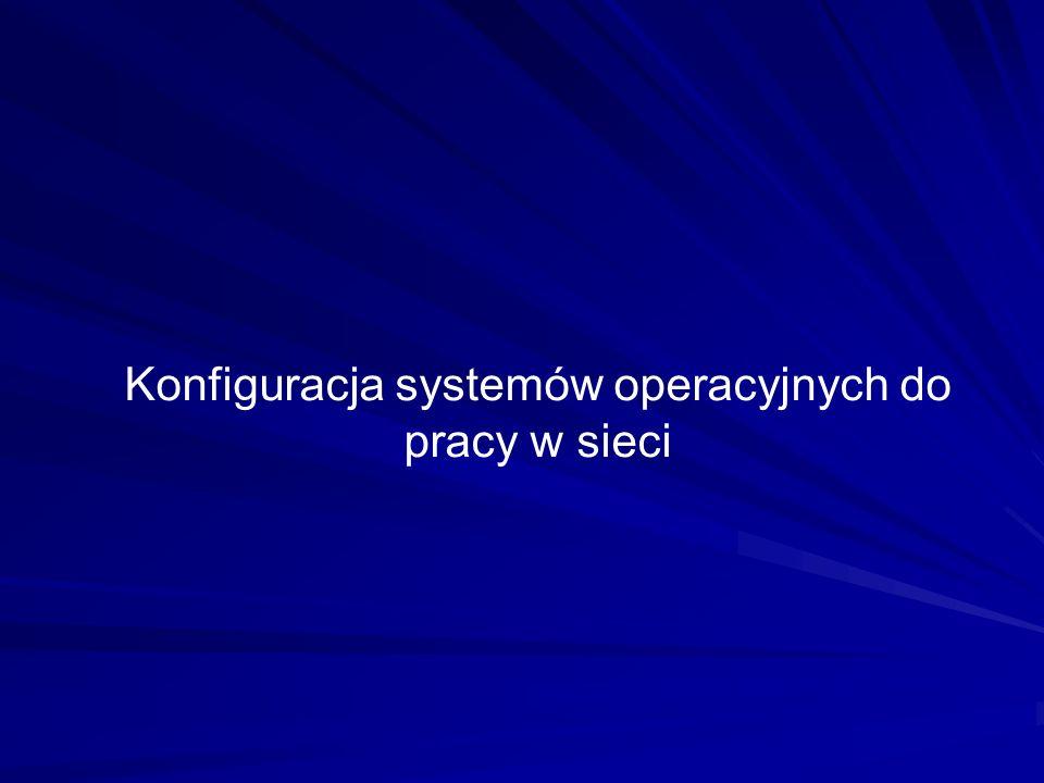 Konfiguracja systemów operacyjnych do pracy w sieci