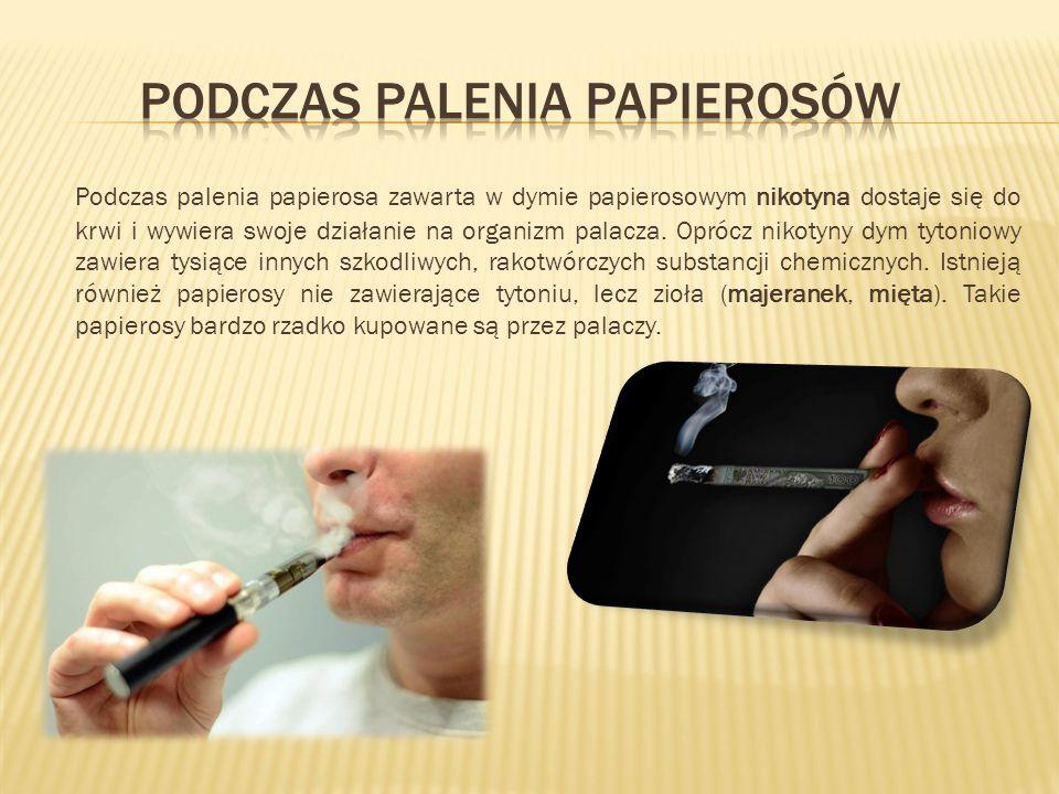 Podczas palenia papierosa zawarta w dymie papierosowym nikotyna dostaje się do krwi i wywiera swoje działanie na organizm palacza. Oprócz nikotyny dym