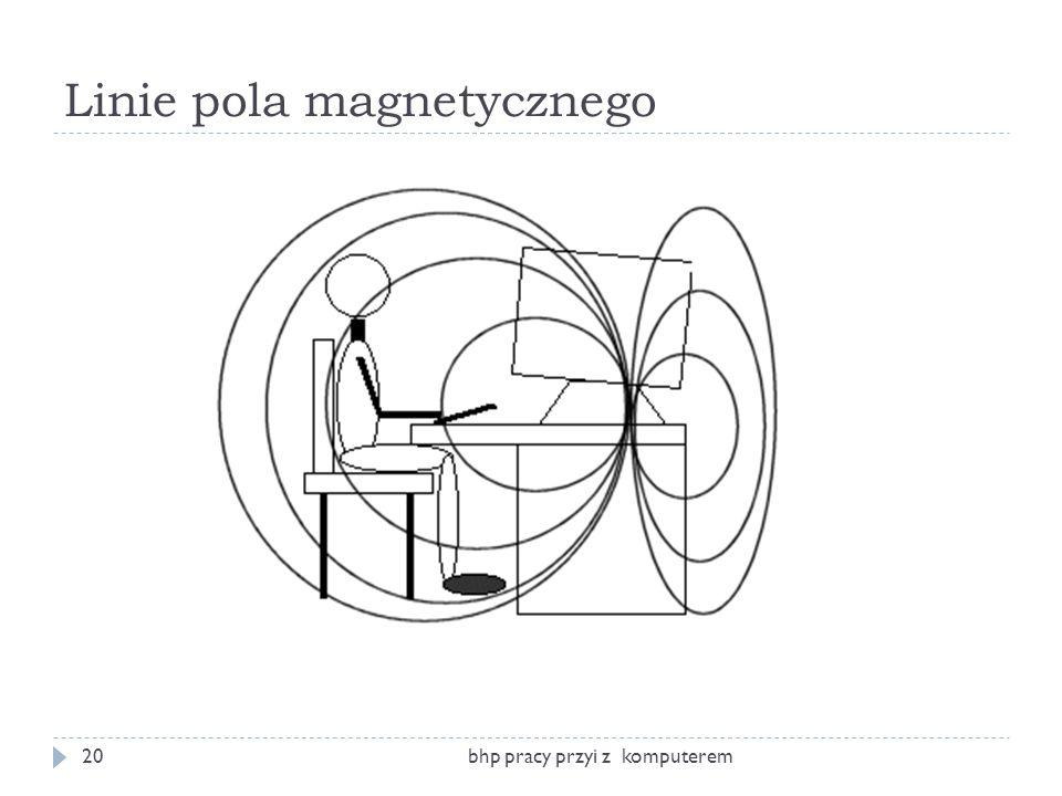 Linie pola magnetycznego bhp pracy przyi z komputerem20