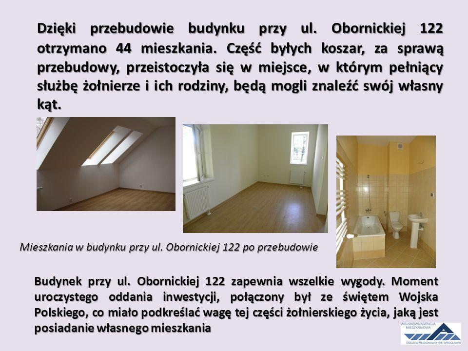 Dzięki przebudowie budynku przy ul. Obornickiej 122 otrzymano 44 mieszkania.