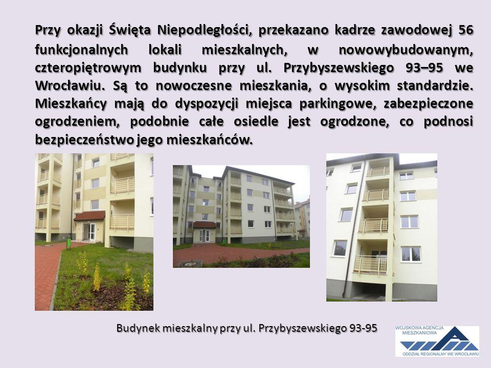 Przy okazji Święta Niepodległości, przekazano kadrze zawodowej 56 funkcjonalnych lokali mieszkalnych, w nowowybudowanym, czteropiętrowym budynku przy ul.