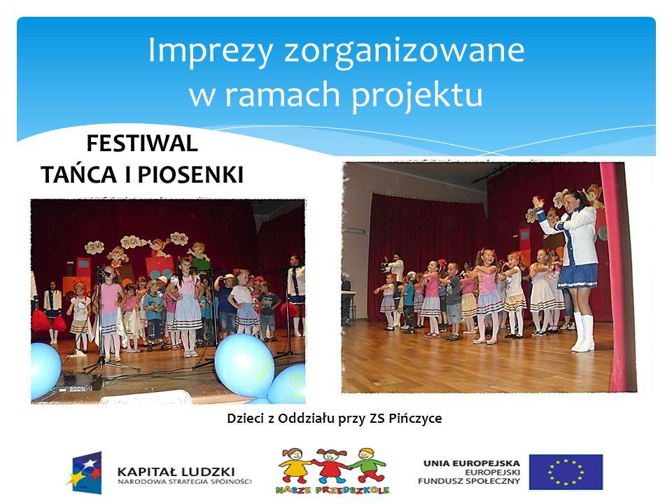 Imprezy zorganizowane w ramach projektu FESTIWAL TAŃCA I PIOSENKI Dzieci z Oddziału przy ZS Pińczyce