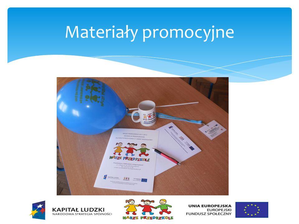 Działania podejmowane w ramach realizacji projektu Placówka została doposażona w materiały plastyczne, środki dydaktyczne i sprzęt na ogólną kwotę 89 327,22 zł