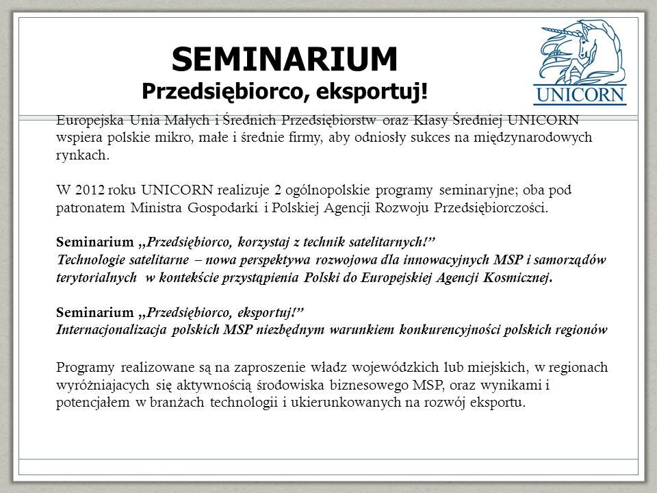 SEMINARIUM Przedsiębiorco, eksportuj.