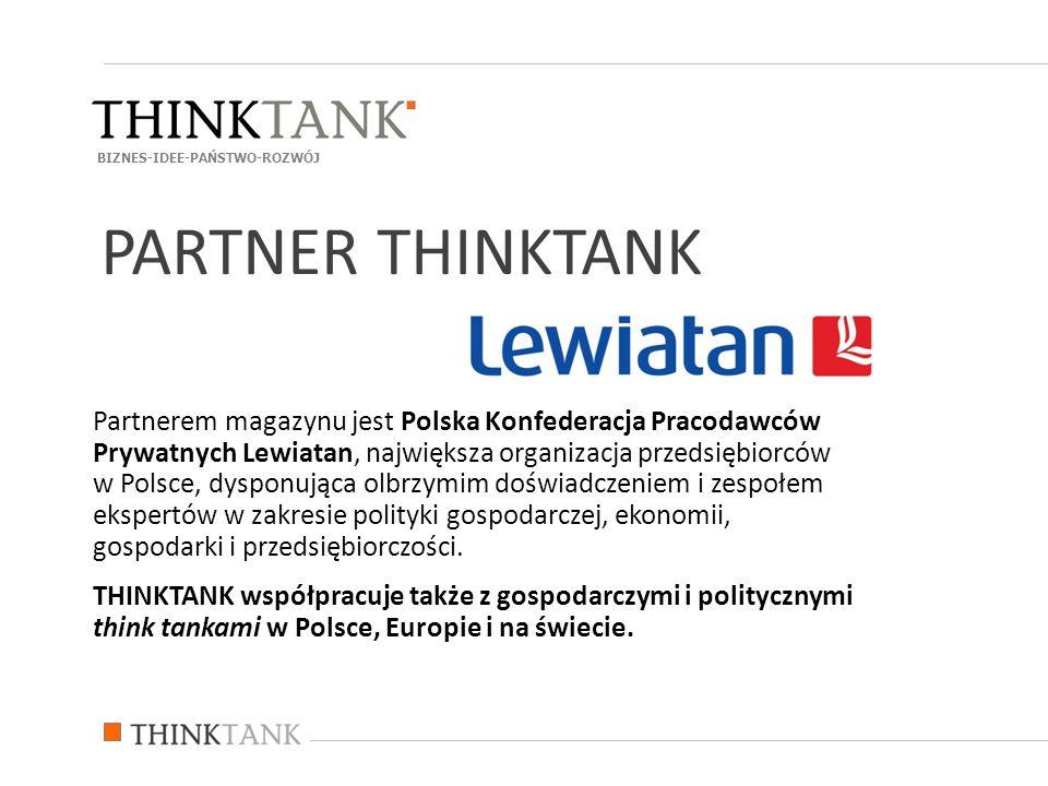 Partnerem magazynu jest Polska Konfederacja Pracodawców Prywatnych Lewiatan, największa organizacja przedsiębiorców w Polsce, dysponująca olbrzymim do