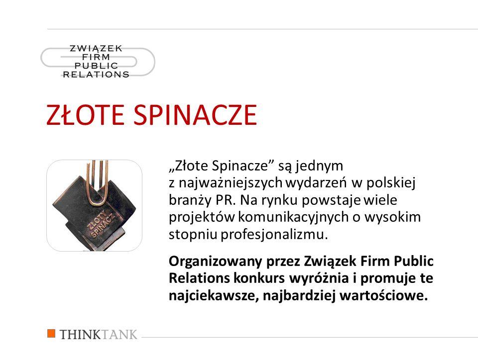 Złote Spinacze są jednym z najważniejszych wydarzeń w polskiej branży PR. Na rynku powstaje wiele projektów komunikacyjnych o wysokim stopniu profesjo