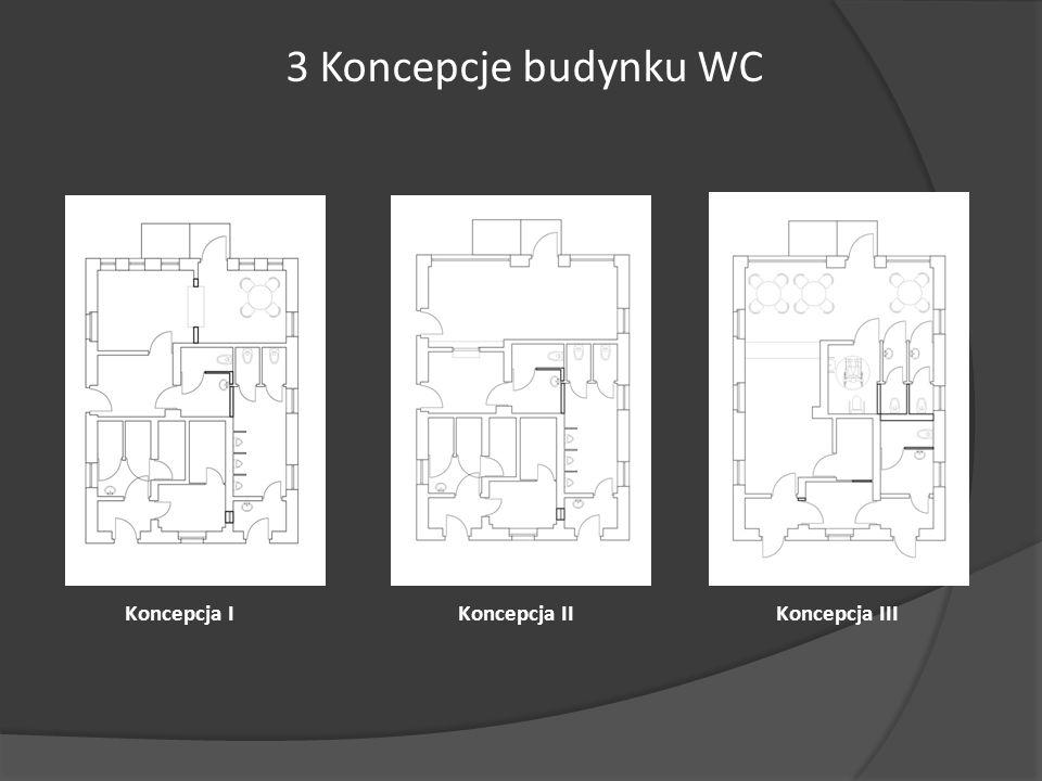 Koncepcja I 3 Koncepcje budynku WC Koncepcja IIKoncepcja III