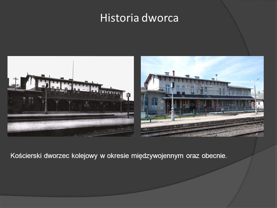 Kościerski dworzec kolejowy w okresie międzywojennym oraz obecnie. Historia dworca