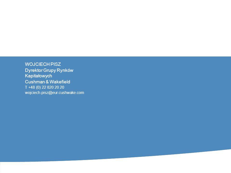 CUSHMAN & WAKEFIELD 11 GRUPA RYNKÓW KAPITAŁOWYCH INWESTYCJA W NIERUCHOMOŚĆ POCZĄTEK INWESTYCJI STYCZEŃ 2008 - KONIEC INWESTYCJI GRUDZIEŃ 2012 ZAŁOŻENIE IRR – 14% CENA ??.