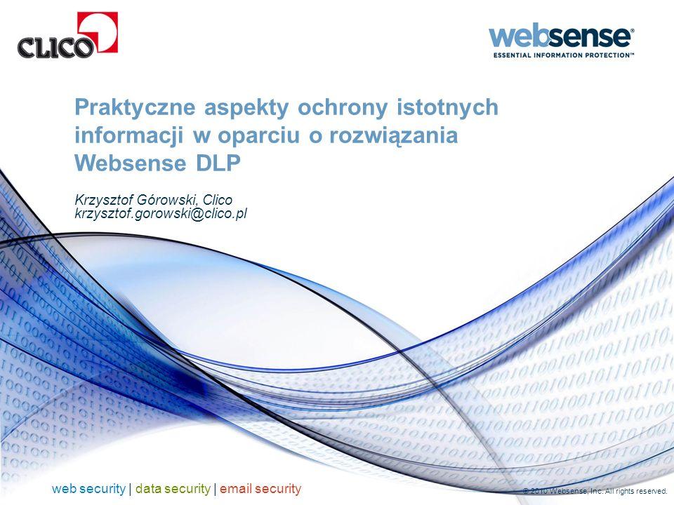 O firmie Websense 2 Wiodący dostawca rozwiązań bezpieczeństwa Web, Email oraz DLP Ponad 50 000 klientów na świecie Dziesiątki milionów chronionych użytkowników Tysiące Resellerów z wartością dodaną (VAR) na świecie Nagradzany program partnerski Ośrodki rozwoju na całym świecie Około 100 dedykowanych badaczy bezpieczeństwa Globalne wsparcie i usługi