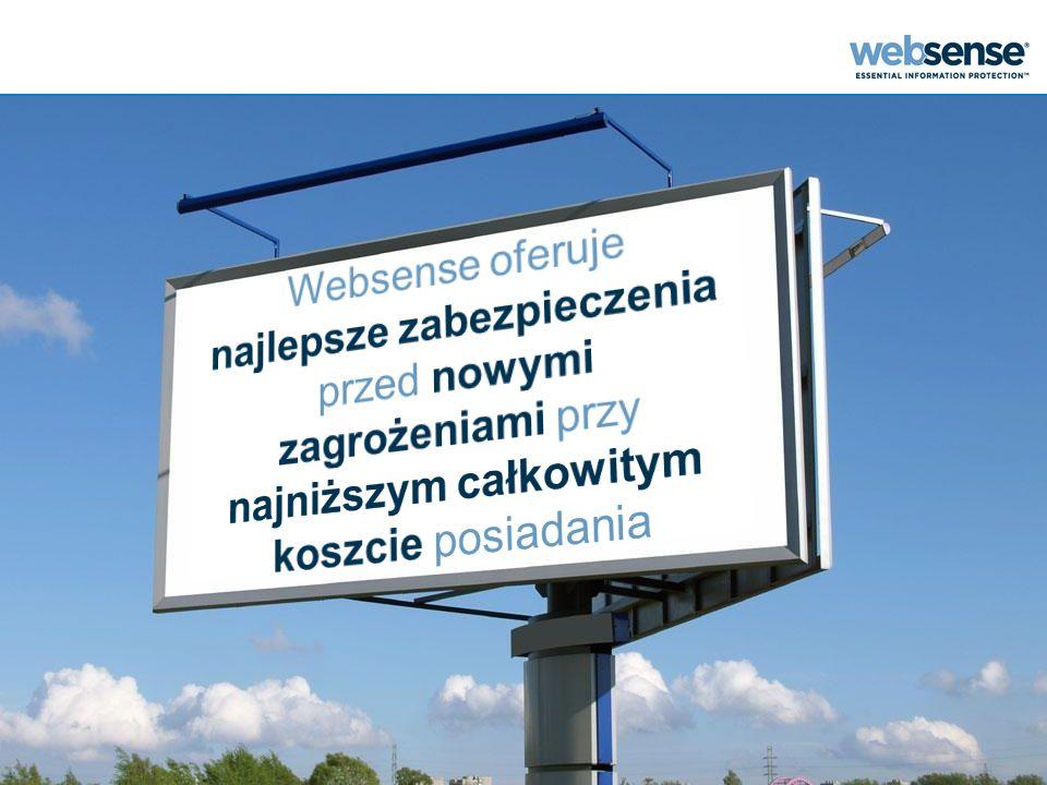 Geo-Location Uwzględnia lokalizację geograficzną Umożliwia wprowadzenie kolejnego wymiaru kontroli © 2010 Websense, Inc.