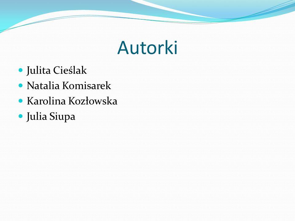 Autorki Julita Cieślak Natalia Komisarek Karolina Kozłowska Julia Siupa