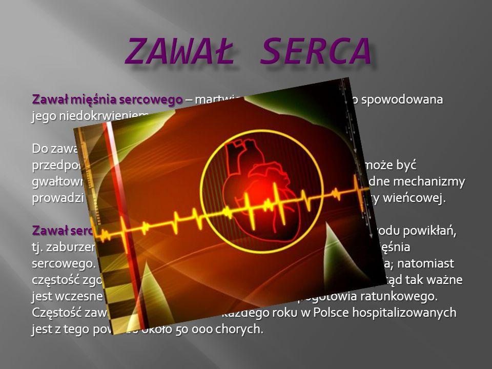 Objawy: ból w klatce piersiowej, ból w klatce piersiowej, osłabienie, zawroty głowy, omdlenie, osłabienie, zawroty głowy, omdlenie, bladość, poty, nudności, wymioty, kołatanie serca, bladość, poty, nudności, wymioty, kołatanie serca, duszność, kaszel z odkrztuszaniem krwistej wydzieliny, w skrajnych przypadkach objawy obrzęku płuc, duszność, kaszel z odkrztuszaniem krwistej wydzieliny, w skrajnych przypadkach objawy obrzęku płuc, stan podgorączkowy, stan podgorączkowy, silny lęk przed śmiercią.