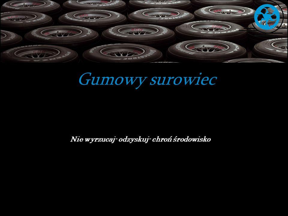 Odzyskuj Guma w asfalcie pochodzi z utylizacji opon samochodowych.