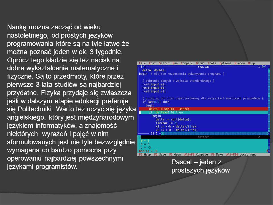 Naukę można zacząć od wieku nastoletniego, od prostych języków programowania które są na tyle łatwe że można poznać jeden w ok.