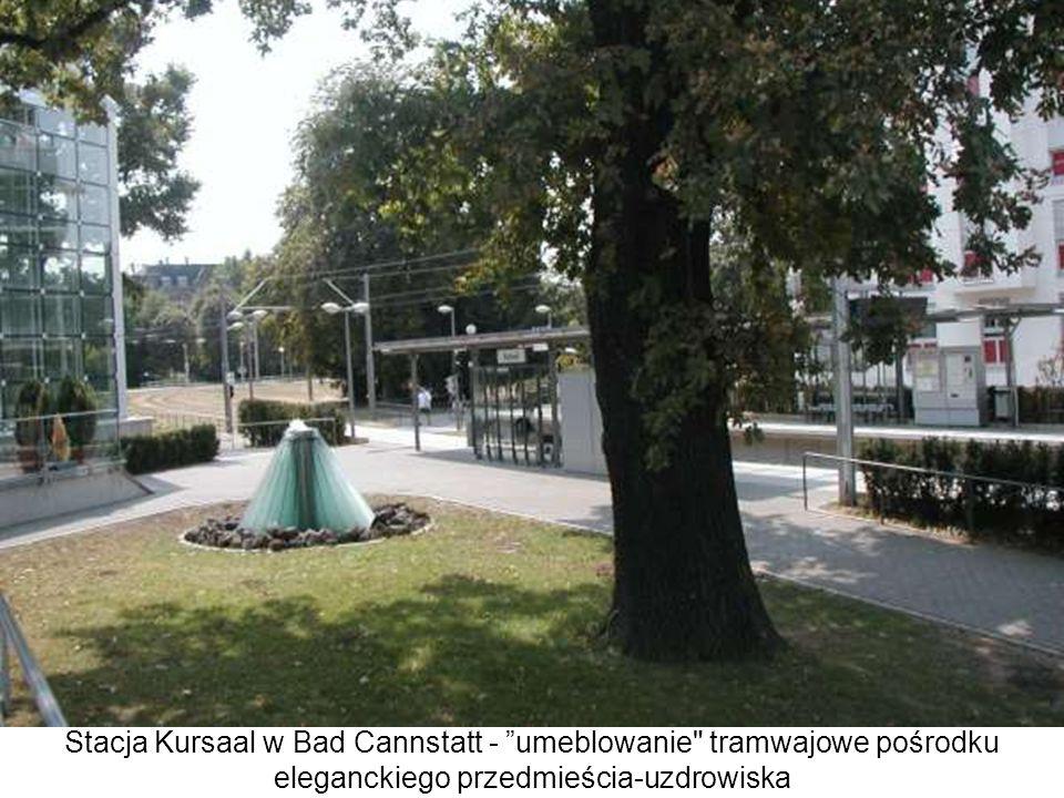 Stacja Kursaal w Bad Cannstatt - umeblowanie