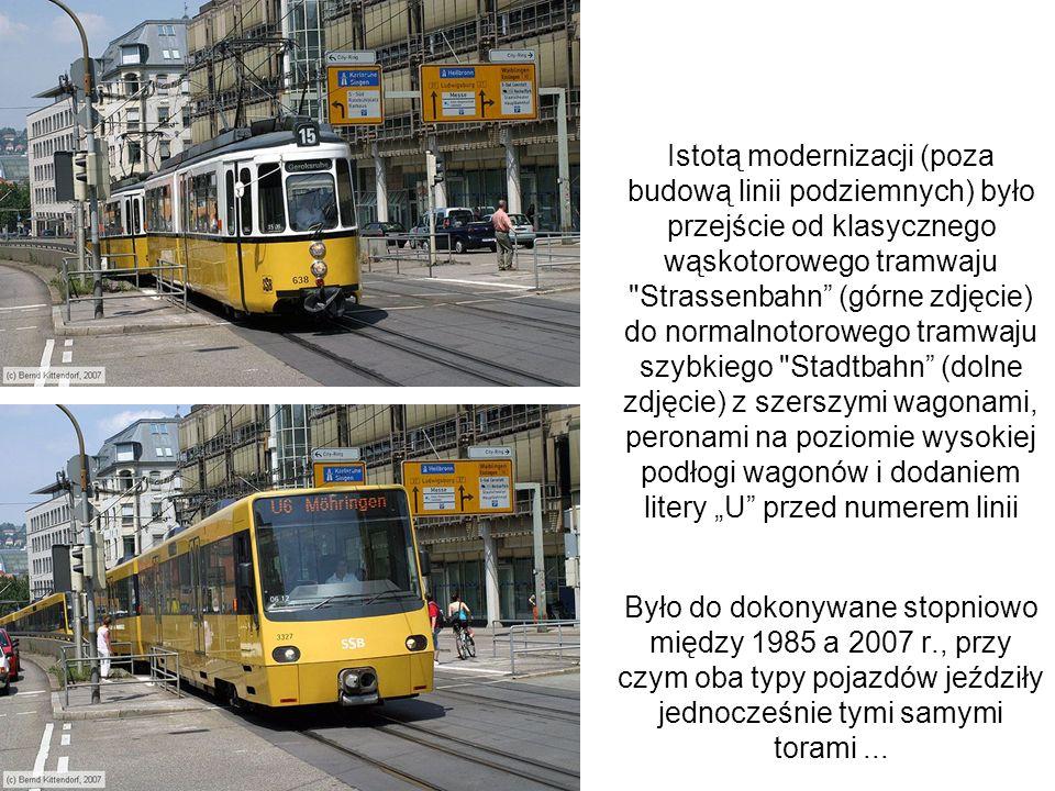 Istotą modernizacji (poza budową linii podziemnych) było przejście od klasycznego wąskotorowego tramwaju
