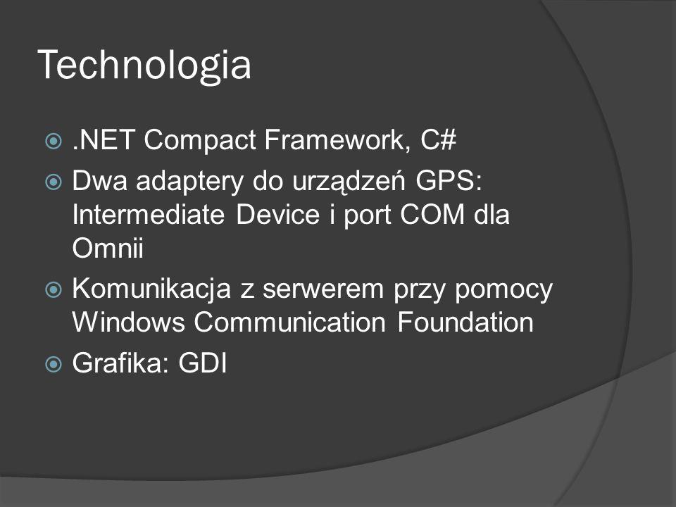 .NET Compact Framework, C# Dwa adaptery do urządzeń GPS: Intermediate Device i port COM dla Omnii Komunikacja z serwerem przy pomocy Windows Communica