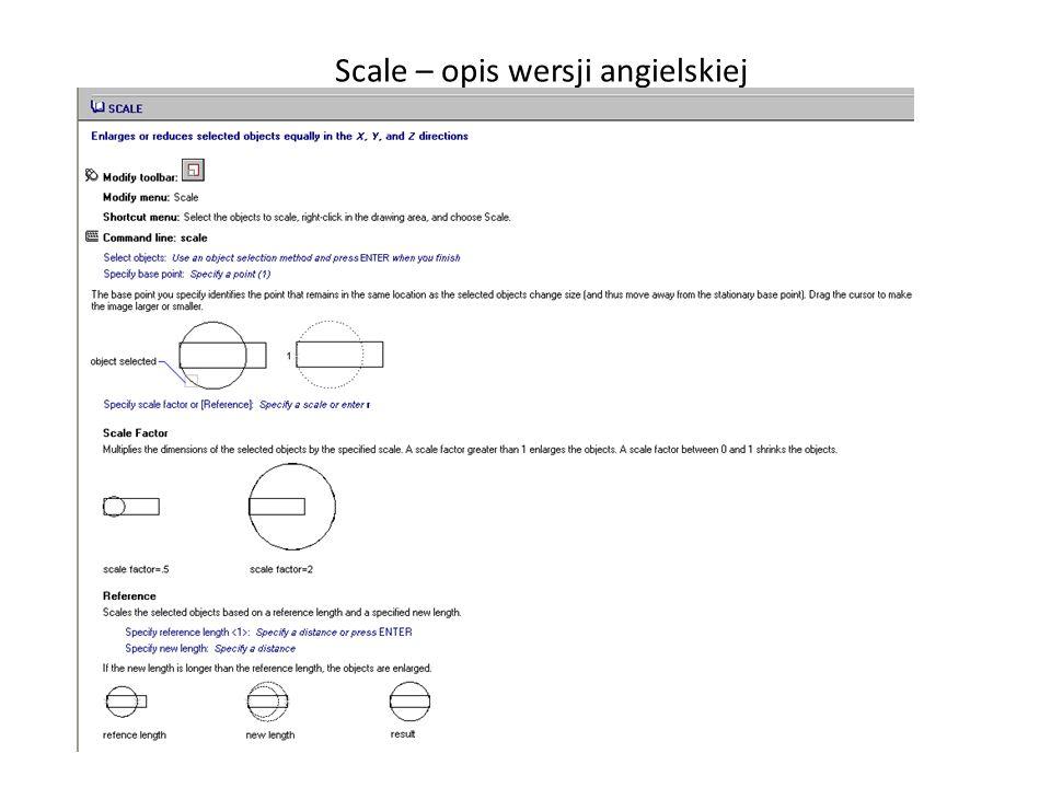 _ Scale – opis wersji angielskiej