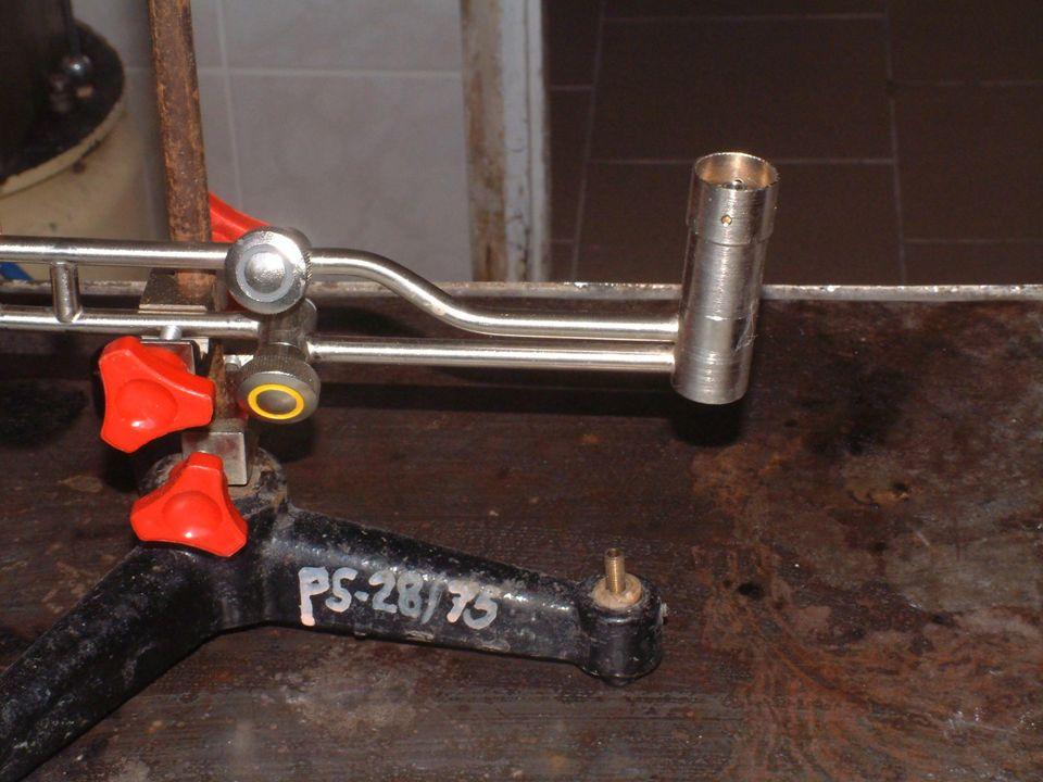 Aby podłączyć palnik musiałem zawołać gazownika, aby zamontował zawór laboratoryjny