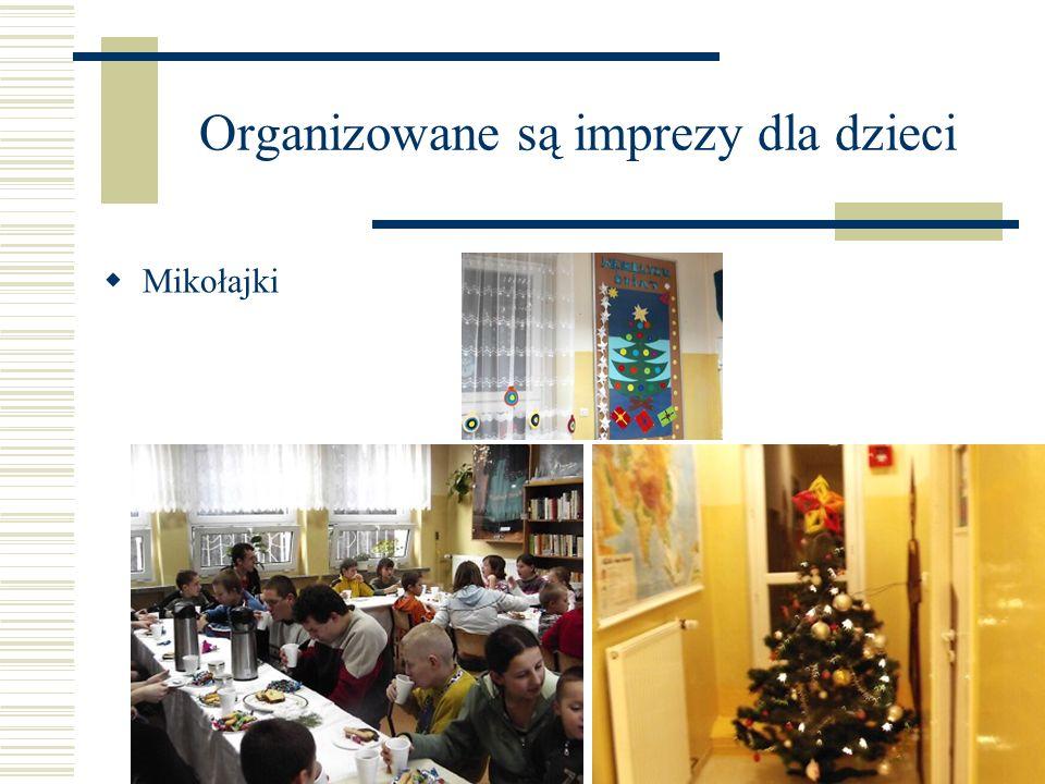Organizowane są imprezy dla dzieci Mikołajki