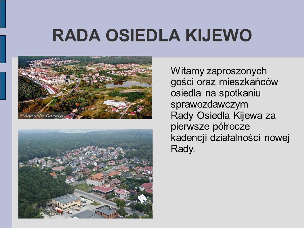 Witamy zaproszonych gości oraz mieszkańców osiedla na spotkaniu sprawozdawczym Rady Osiedla Kijewa za pierwsze półrocze kadencji działalności nowej Ra