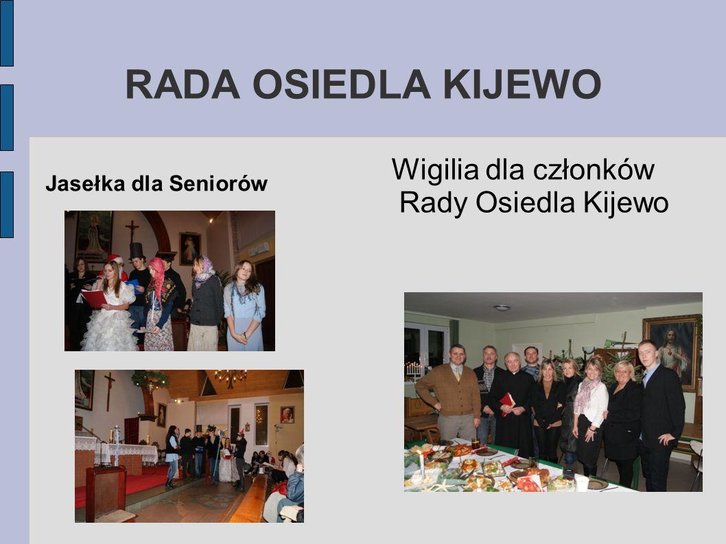 RADA OSIEDLA KIJEWO Wigilia dla członków Rady Osiedla Kijewo Jasełka dla Seniorów