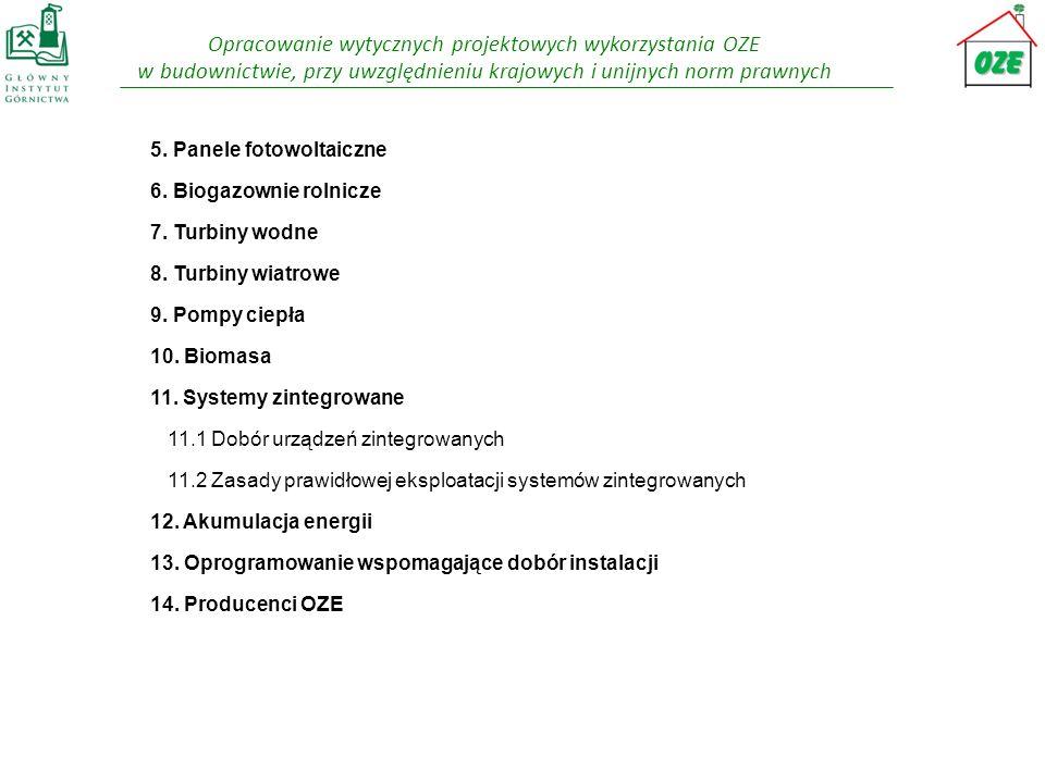 Opracowanie wytycznych projektowych wykorzystania OZE w budownictwie, przy uwzględnieniu krajowych i unijnych norm prawnych 5. Panele fotowoltaiczne 6