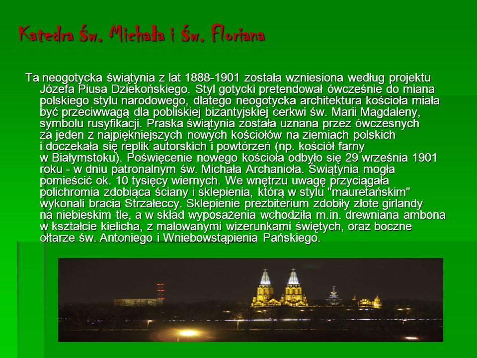 Pomnik Praskiej Kapeli Podwórzowej Oryginalny pomnik z figurami grajków warszawskiej kapeli podwórzowej został odsłonięty w 2006 r.