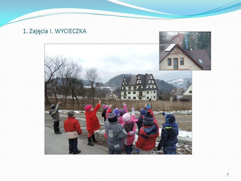 Przedszkolaki z brelokami programu zielony Dinek 78