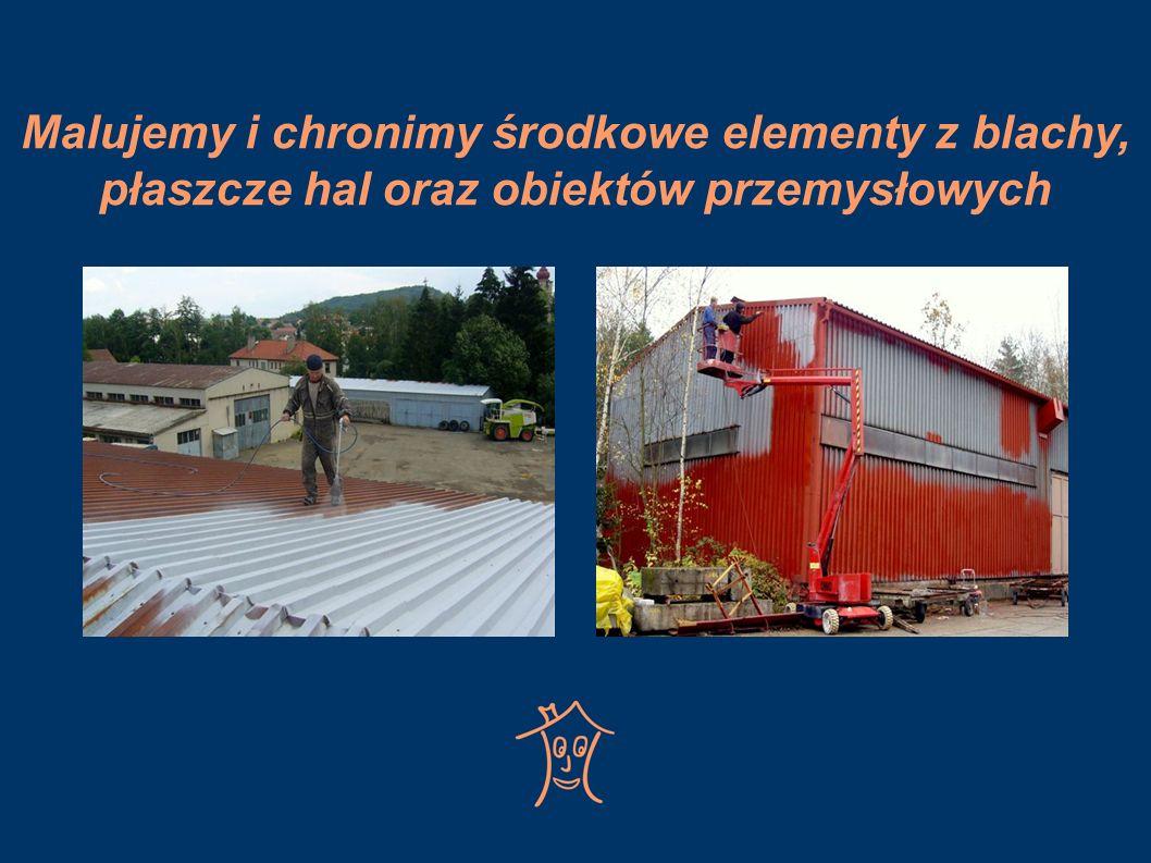 Malujemy i chronimy środkowe elementy z blachy, płaszcze hal oraz obiektów przemysłowych